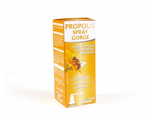 Maux de gorge, Propolis, spray